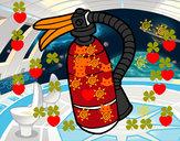 Desenho Extintor de incêndio pintado por Eduardocor