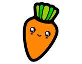 Desenho Cenoura sorridente pintado por lany