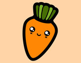 Desenho Cenoura sorridente pintado por CarolCini