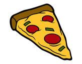 Desenho Ração de pizza pintado por CarolCini
