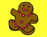 Desenho Boneco do biscoito pintado por Barbaraeli