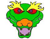 Desenho Dragão 5 pintado por MariGabi