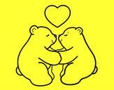 Desenho Os ursos polares amar pintado por Erielly