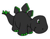 Desenho Bebê Stegosaurus pintado por bhun