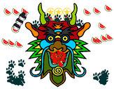Desenho Cara de dragão pintado por alex2009