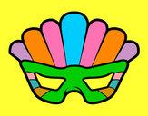 Desenho Máscara com plumas pintado por daniela200