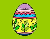 Desenho Ovo de páscoa mandala pintado por Hanocas