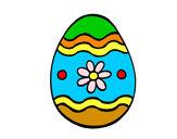 Desenho Ovo de páscoa margarida pintado por Hanocas