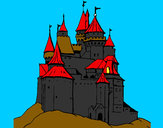 Desenho Castelo medieval pintado por vitorcely