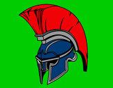 Desenho Capacete romano de guerreiro pintado por tafnny