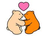 Desenho Os ursos polares amar pintado por Lauritta