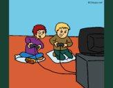Crianças a brincar