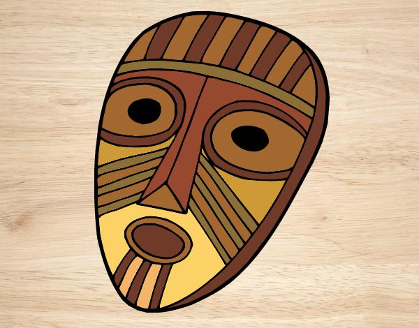 Desenho Máscara de surpresa pintado por amauri