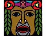 Desenho Máscara Maia pintado por saralee