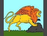 Leão alado