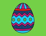 Desenho Ovo de páscoa com estampas pintado por luaspezia
