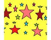 Desenho Conjunto de estrelas pintado por divana