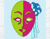 Desenho Máscara italiana pintado por JuLeo