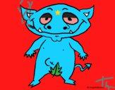 Desenho Monstro do bosque pintado por th0xy