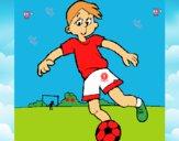 Desenho Jogar futebol pintado por marilurdes