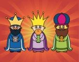 Desenho Os 3 Reis Magos pintado por shirloka