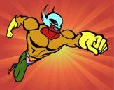 Desenho Super-herói sem uma capa pintado por joaoarthur