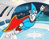 Super-herói voando