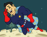 Superherói voando