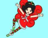 Desenho Fada duende de Natal pintado por paloma-03