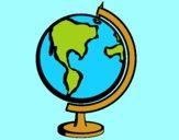 Desenho Bola do mundo II pintado por Margarida-
