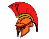 Desenho Capacete romano de guerreiro pintado por bruna2004