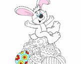 Desenho Coelhinho da Páscoa pintado por thads