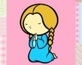 Menina a rezar