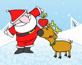 Papai Noel e Rudolf