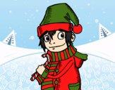 Desenho Elfo de natal pintado por ale3170