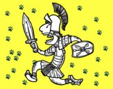 Soldado romano a corre