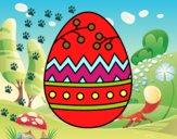 Um ovo de páscoa