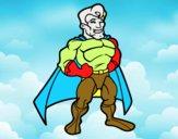 Super-herói musculoso