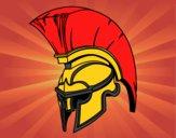Capacete romano de guerreiro