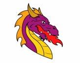 Desenho Cabeça de dragão europeu pintado por nferreira