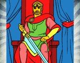 Desenho Cavaleiro rei pintado por lyuna