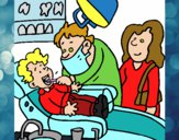 Menino no dentista