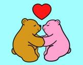 Desenho Os ursos polares amar pintado por marianasds