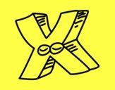 Desenho Letra X pintado por betinho