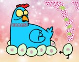 Desenho A incubação de galinha pintado por jejezinha