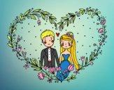 Casamento coração