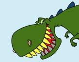 Dinossauro de dentes afiados