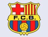 Desenho Emblema do F.C. Barcelona pintado por aoxa