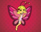 Desenho Fada borboleta contente pintado por bruninhabr