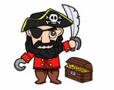 Pirata com tesouro